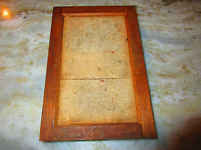"ANTIQUE .  Printing Frame 3"" AND 11/16"" x 6"" plates, vintage Frame"