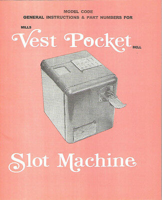 VEST POCKET MANUEL MINT 16 Page VESTPOCKET SLOT MACHINE MANUAL ANTIQUE SLOT