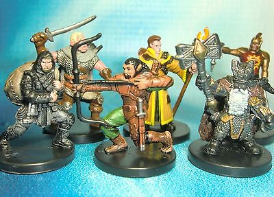 Dungeons & Dragons Miniatures Lot  Experienced Player Character Party !!  s114