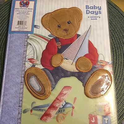 Blue Jean Teddy Baby Days Memory Book - Record 1st Year