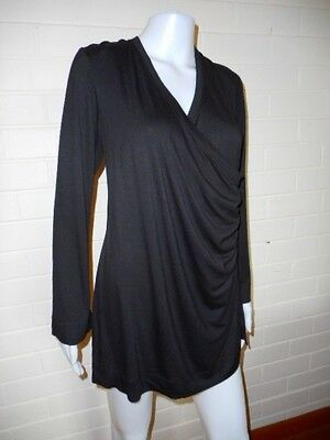 New Beginnings-NEW-Black Maternity Top-Size 12
