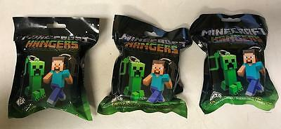"Lot of 3 Minecraft 3"" Figure Hangers Blind Pack, Series 1 [NEW]"