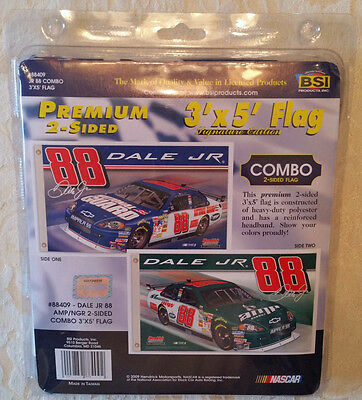 RARE #88 DALE EARNHARDT JR. 3'X5' 2-Sided Heavy Duty FLAG #88409 BSI NASCAR NEW