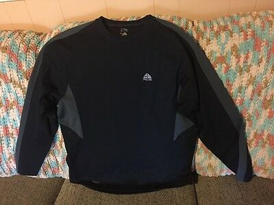 Nike ACG Men's XL Long Sleeve Top In Excellent Condition. Black/Grey