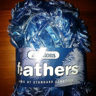 Patons Feathers Yarn 10 balls x 50g blue col 4
