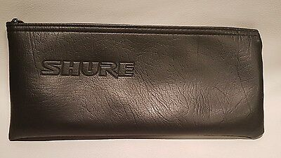 """Shure black zippered microphone pouch case 9 3/4"""" x  4 3/8"""""""