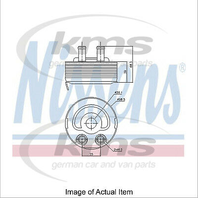 New Engine Oil Cooler NISSENS 90719 Top Quality