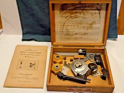 Vintage 1940's Wilco Wheel Positioner With Wooden  Box And Instruction