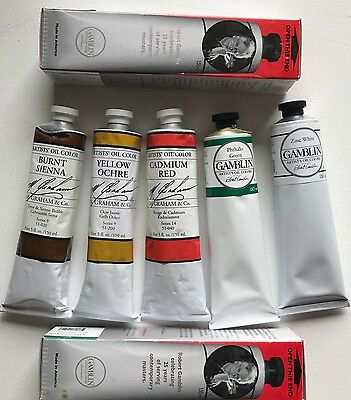 Graham & Co Gamblin 150ml Artists Oil Paint Lot NOS