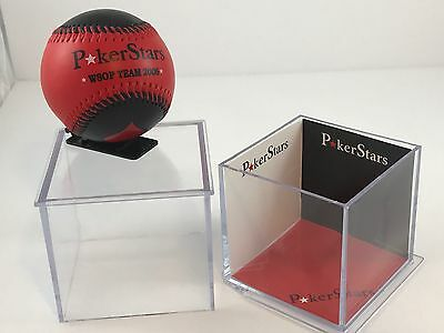 Poker Stars baseball 2006 In Plastic Case Red And Black,Card Players  WSOP Team