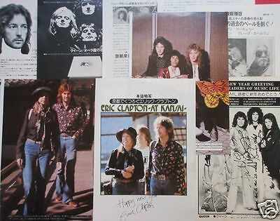 Eric Clapton Pattie Boyd Kyoto Queen 1976 Clipping Japan Ml 1A 11Page Ld