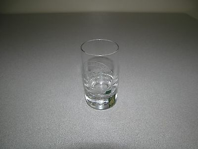 Collins Scotland Shot Glass Crystal Etched Campbell Ne Obliviscaris
