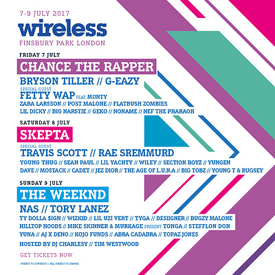 Wireless Festival Friday and Sunday Ticket