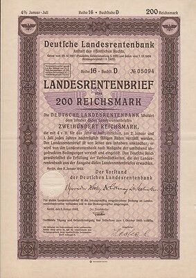 200 Reichsmark German National Pension Bank