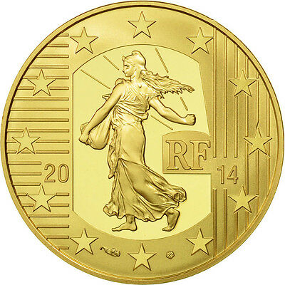 [#465529] France, 50 Euro, Charles Le Chauve, 2014, MS(65-70), Gold