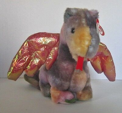 Scorch The Beanie Buddy Dragon From 1999 Retired