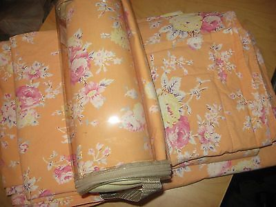 Pottery Barn Teen Sunwashed Floral Twin Duvet Cover Set & Euro Sham Orange