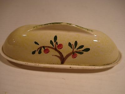 Blue Ridge Southern Potteries Apple Tree Covered Butter Dish Yellow