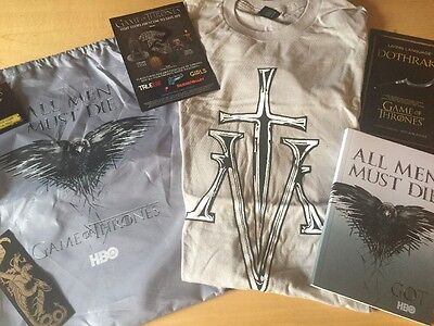Game Of Thrones Swag Bag Tshirt Journal San Diego Comic Con Panel Exclusive