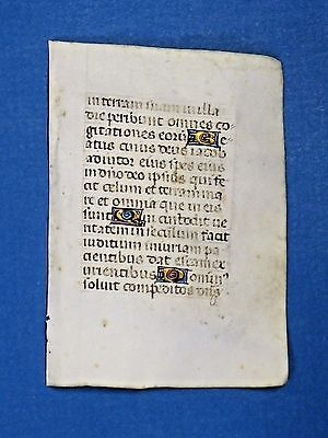 Decorative Mini Medieval Manuscript Leaf,c.1460
