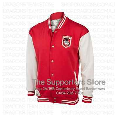 St George Illawarra Dragons NRL Heritage Retro Vintage Fleece Jacket Sizes S-5XL