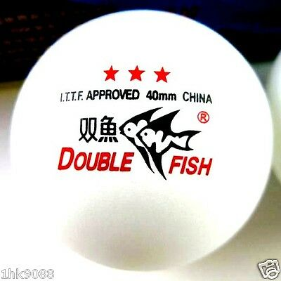 10 Boxes (30 Pcs) Double Fish 3 Stars 40MM Olympic Games White Ping Pong Balls