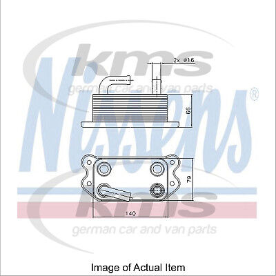 New Engine Oil Cooler NISSENS 90738 Top Quality