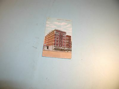 "1909 "" National Hotel "" Topeka, KS  Used Postcard"