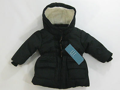 NWT Old Navy Toddler Girls Size 2t or 4t Black Toggle Coat Winter Jacket