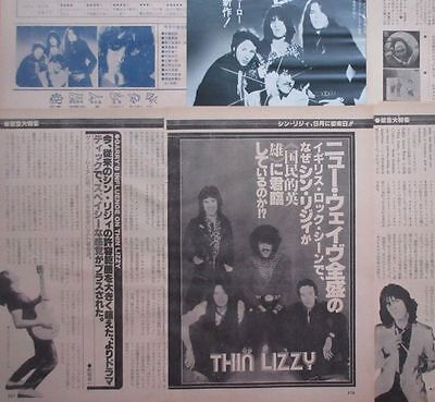 Thin Lizzy Phil Lynott Gary Moore 1979 Clipping Japan Magazine G2 A11 12Page