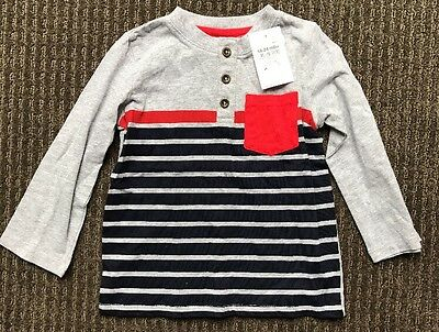 Target Baby Toddler Boy Grey Blue Long Sleeve Top Size 2, 18-24 Months BNWT
