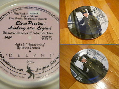 "Elvis Presley: Looking at a Legend A Delphi Plate 4 ""Homecoming"" by Bruce Emmett"