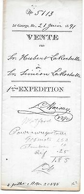 Sale document dated June 1891 with registration stamps