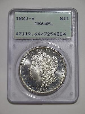 1880 S Morgan Dollar Old Rattler Pcgs Ms64 Pl Proof Like Old Coin Collection Lot