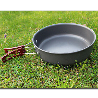 Titanium Frying Pan Outdoor Camping Cooking Picnic Backpack Cookware 8 Inches