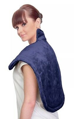 UComfy Neck & Shoulder Heat Wrap - Grey With 6 Settings NOB Navy