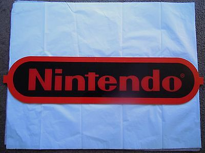 Vintage Nintendo Acrylic Sign Red And Black