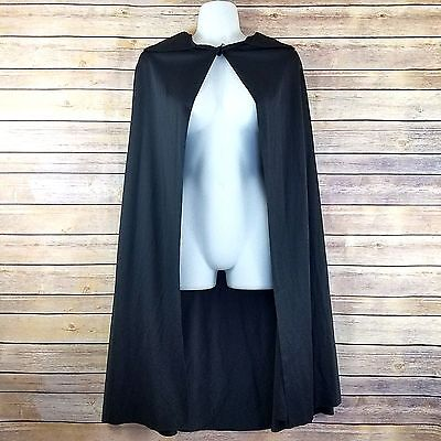 Black Costume Cape Rubies Adult One Size Womens Vampire Halloween 40 inches