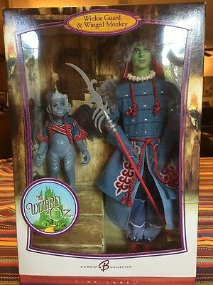 New Wizard Of oz Winkie Guard & Winged Monkey Barbie Pink Label Series