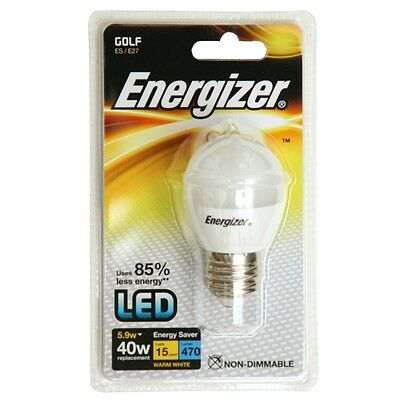 Energizer LED Golf Ball Lamp 470 Lumens Daylight 5.9w BC Fitting
