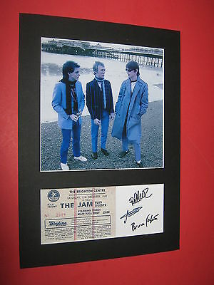 The Jam A4 Photo Mount Signed Reprint Last Concert Brighton  Ticket Paul Weller