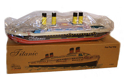 THE TITANIC TIN TOY Steam Powered Boat Pop Pop Replica - FREE SHIPPING!