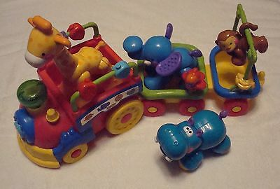 Fisher Price Mattel Amazing Animals Sing & Go Choo Choo with Double Cart Music