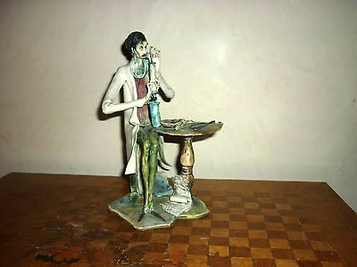 Superbe sculpture ART figurine TONI MORETTO Vintage scientist Italia vintage