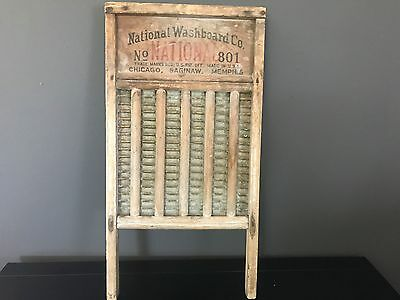 National Wash Board 801 The Brass King Vintage Soap Notches Chicago Memphis