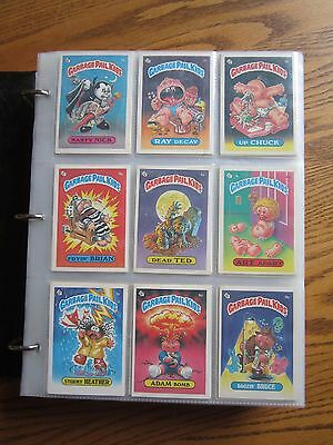 GPK Complete Sets  First Series 1 - 10 in Binder 834 Cards 1a Nasty Nick - 417b
