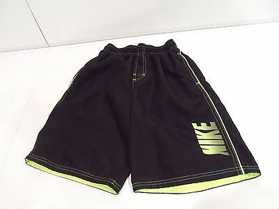 Nike Boy's Swim Trunks Size Large Black Swimming Shorts w/ Two Pockets