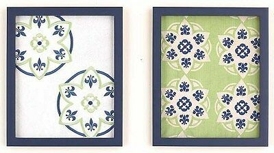 New CoCaLo baby Moss Collection Nursery Ready to Hang 2-Piece Framed Wall Art