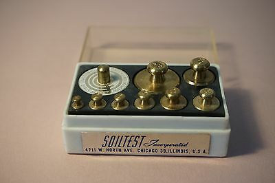 Soiltest Brass Weights 50g, 20, 10, 5, 2, 1 and 500mg, 200, 100, 50, 20, 10