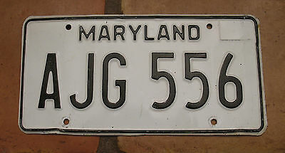 MARYLAND 1980's LICENSE PLATE AJG 556